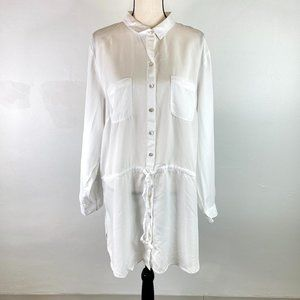 J.JILL WOMEN'S WHITE SHIRT DRESS SZ XL